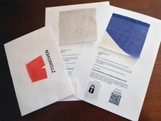 Pieces of the presidential flag, photo: CTK
