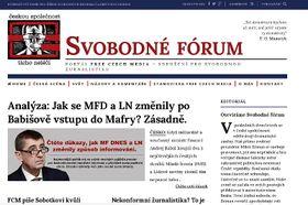 Сайт интернетового журнала «Свободный форум»