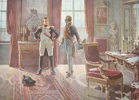 Napoleon et Metternich à Dresden en 1813