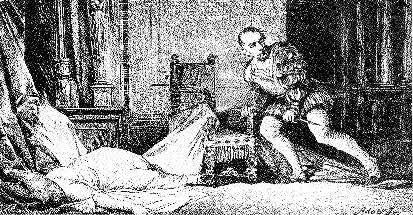 """Адольф Либшер """"Дон Юлиус Цезарь убивает свою возлюбленную Маркету Пихлерову"""""""