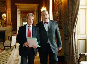 Bernard Kouchner, Karel Schwarzenberg (right), photo: CTK