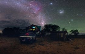 Namibian Geminid night, photo: Petr Horálek