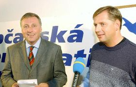 Mirek Topolánek (L) and Petr Bendl from ODS, photo: CTK