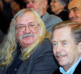 Ivan M. Jirous with Václav Havel, photo: CTK