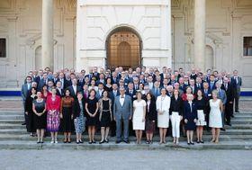 Embajadores checos con el ministro de RR.EE., Karel Schwarzenberg. Foto: Archivo del Ministerio de RR.EE., Robert Janás