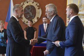 Андрей Бабиш вновь был назначен президетом главой кабинета, фото: ЧТК / Шиманек Вит