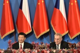 Xi Jinping, Miloš Zeman, photo: CTK