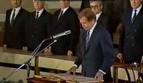 Václav Havel on December 29, 1989, photo: ČT
