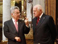 Heinz Fischer, Václav Klaus, photo: CTK
