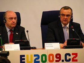 Joaquin Almunia y Miroslav Kalousek, foto: autor