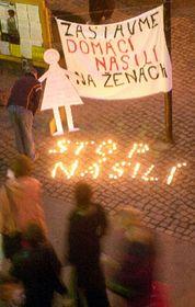 Akce 'V Brně proti domácímu násilí', foto: ČTK