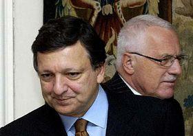 Жозе Баррозу и Вацлав Клаус (Фото: ЧТК)