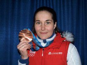 Šárka Záhrobská sbronzovou medailí zVancouveru, foto: Tomáš Kohout / Český rozhlas