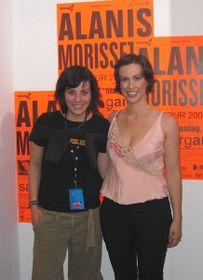 Aneta Langerová mit Alanis Morissette (Foto: Archiv von Aneta Langerová)