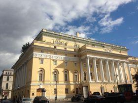 Александринский театр, где 29 мая 1917 г. выступал Масарик, Фото: Катерина Айзпурвит