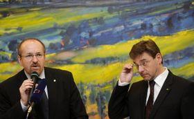 Ivan Fuksa (left), Saxon Agriculture Minister Frank Kupfer, photo: CTK