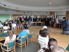 Волынские чехи в гостинице Министерства внутренних дел в городе Червена-на-Влтаве (Фото: Архив Правительства ЧР)