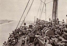 They went through the Suez Canal, photo: www.czechlegion.com