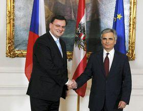 Petr Nečas und Werner Faymann (Foto: ČTK)