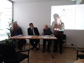 Презентация книги, фото: Лорета Вашкова