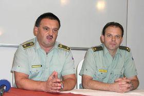 Генерал Душан Лупульев и майор Вратислав Освалд