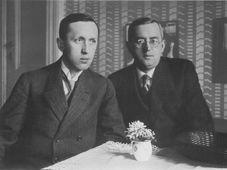 Karel Čapek (links) mit seinem Bruder Josef (Foto: Archiv der Karel-Čapek-Gedenkstätte)