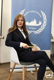 Anna Korienieva, photo: Model United Nations Prague
