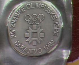 Silbermedaille von Sarajevo (Foto: ČT24)