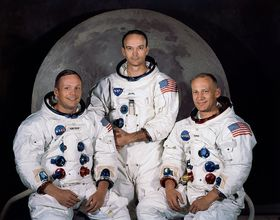 Apollo 11 crew - Neil Armstrong, Michael Collins, Buzz Aldrin, photo: NASA