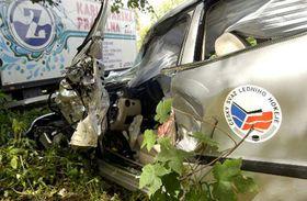 В машину Ивана Глинки врезался грузовик (Фото: ЧТК)