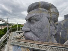 Копия скульптуры И. В. Сталина из пенопласта, Фото: ЧТК