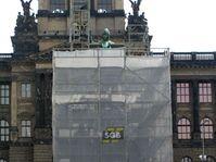 Statue of Saint Wenceslas under restoration, photo: CTK