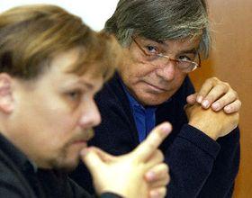 Presidente de la Academia cinematográfica checa, Petr Vachler y Presidente de Festival Internacional de Cine de Karlovy Vary, Jiri Bartoska, foto: CTK