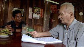Thet Sambath, Nuon Chea (right), photo: www.enemiesofthepeoplemovie.com
