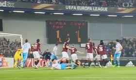 El Sparta de Praga contra el Schalke, foto: ČT