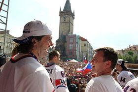 Jaromír Jágr (à gauche), photo: CTK