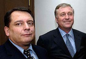 Jiří Paroubek (vlevo) aMirek Topolánek, foto: ČTK