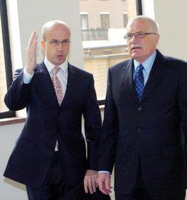 Павел Теличка и Вацлав Клаус (Фото: ЧТК)