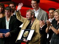 Bohdan Slama with the Best Film award at the prestigious San Sebastian film festival, photo: CTK