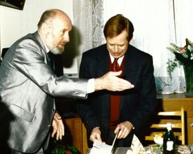 Jiří Kantůrek et Václav Havel, photo: Archives de ČRo