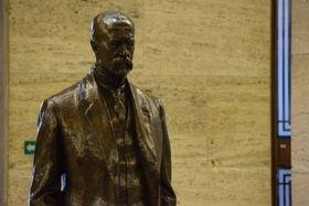 Socha TGM na výstavě Fenomén Masaryk, foto: Ondřej Tomšů