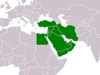Naher Osten - Blízký východ (Quelle: Public Domain)