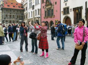Asian tourists on Old Town Square: photo: Gareth1953 All Right Now on Foter.com / CC BY