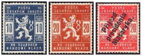 Známky vydané Poštou českých skautů vroce 1918