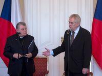 Dominik Duka y Miloš Zeman, foto: ČTK