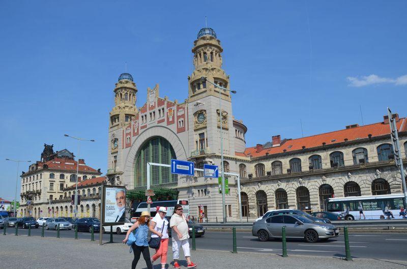 Hlavní nádraží vPraze - Fantova budova, foto: Jolana Nováková, archiv ČRo