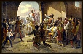Jean de Luxembourg arrive à Prague