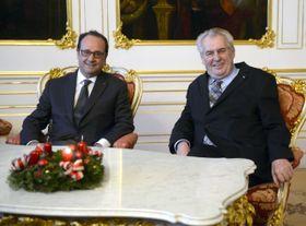 Francois Hollande, Miloš Zeman, photo: CTK