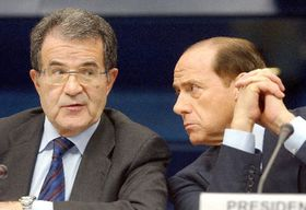 Romano Prodi (left) and Silvio Berlusconi, photo: CTK