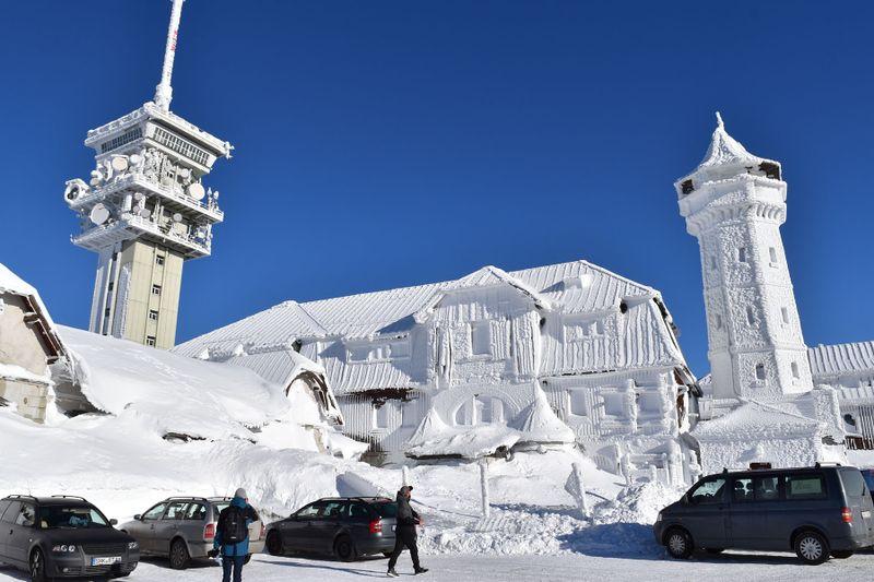 Zima na Klínovci, foto: Ondřej Tomšů
